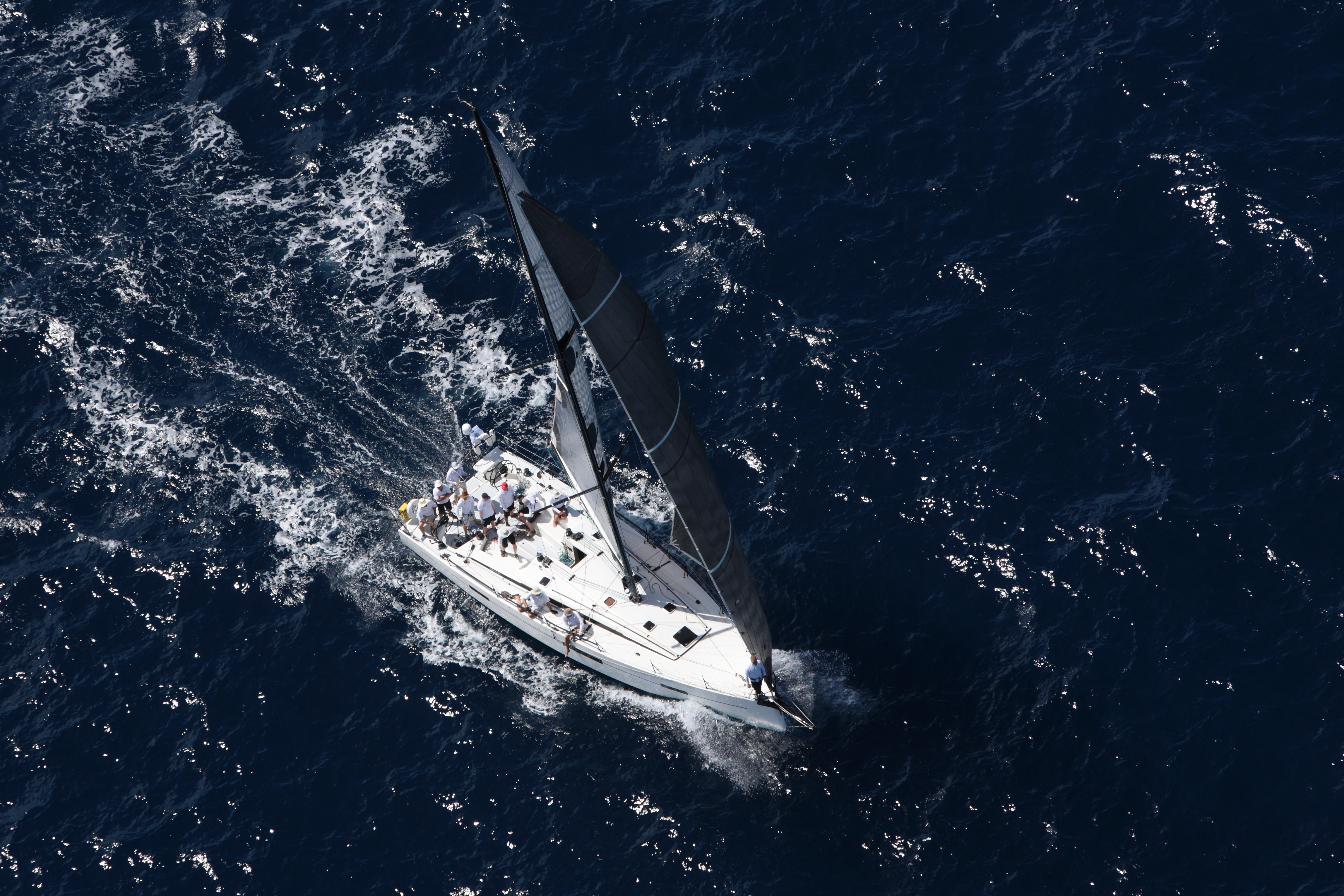 Picture of Pata Negra Lombard 46 racing yacht in the atlantic crossing transatlantic rorc race