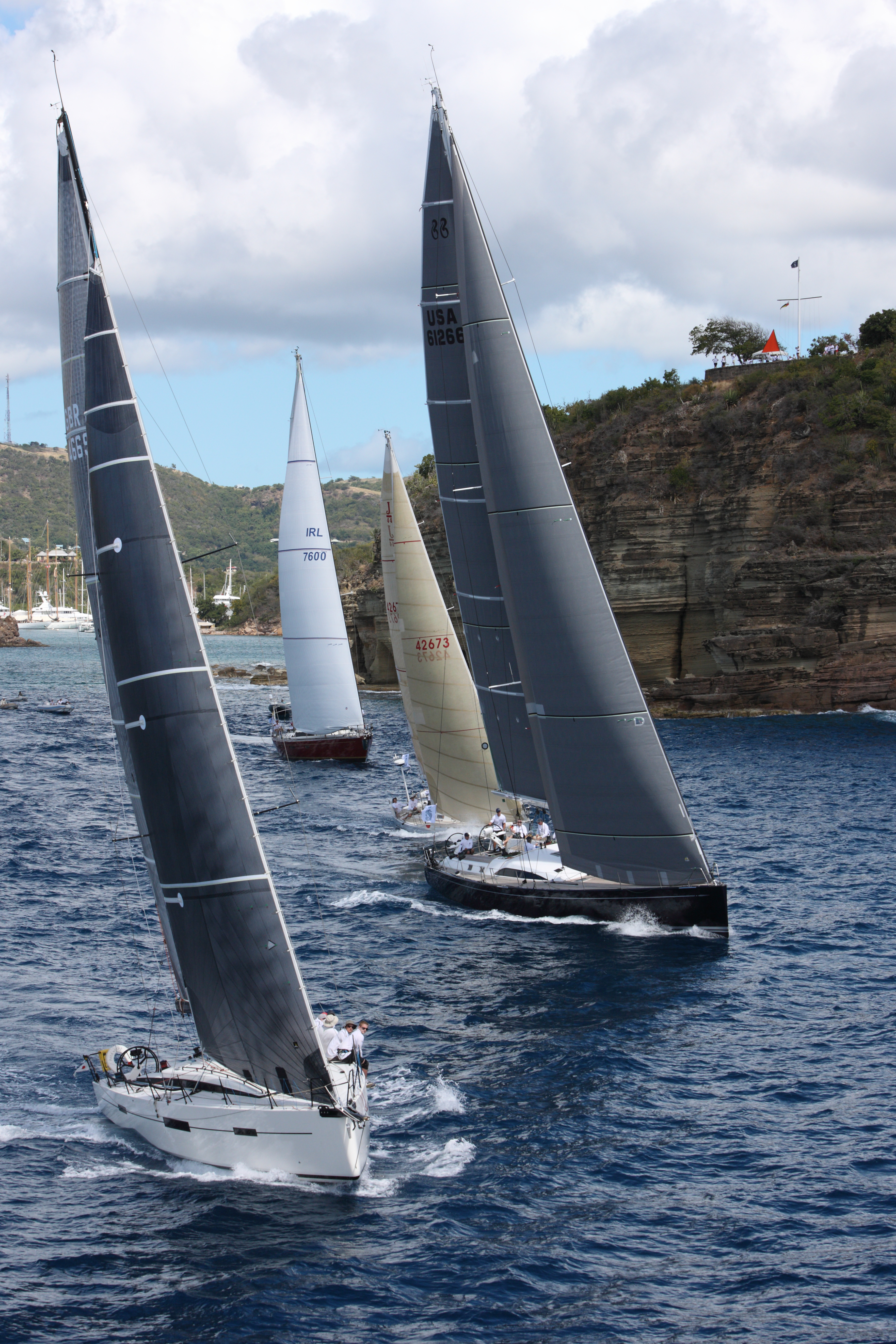 Picture of Pata Negra Lombard 46 racing yacht at the start of the Carribean 600 race yacht racing yacht charter racing charter
