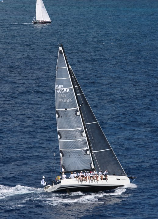 Picture of Pata Negra Lombard 46 racing yacht in the carribean racing